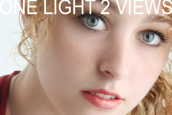 Two Variations on a One Light Headshot