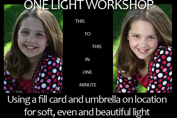 One Flash and One Fill Card on Location