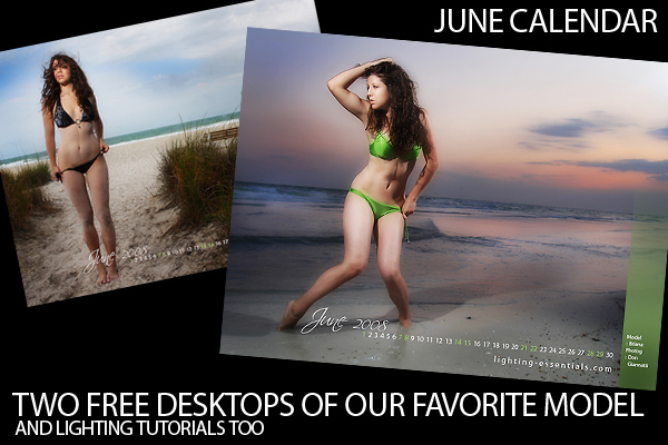Free Desktop Wallpaper June Calendar