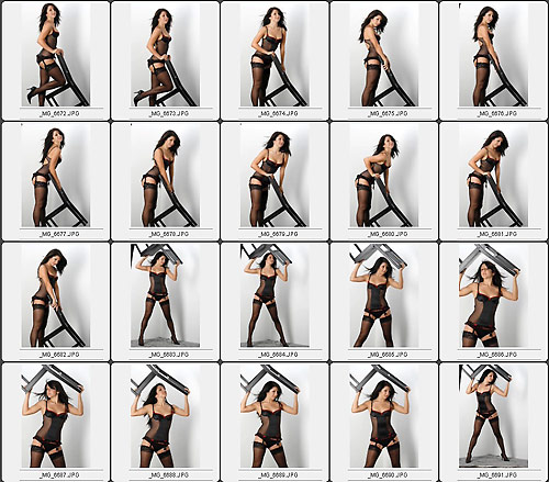 A chair: not just for sitting :) Twyla Tharp teaches 60 uses for a stool for her dancers to show their range... I used a chair
