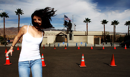 Bri and the Cones: Patton Museum, California