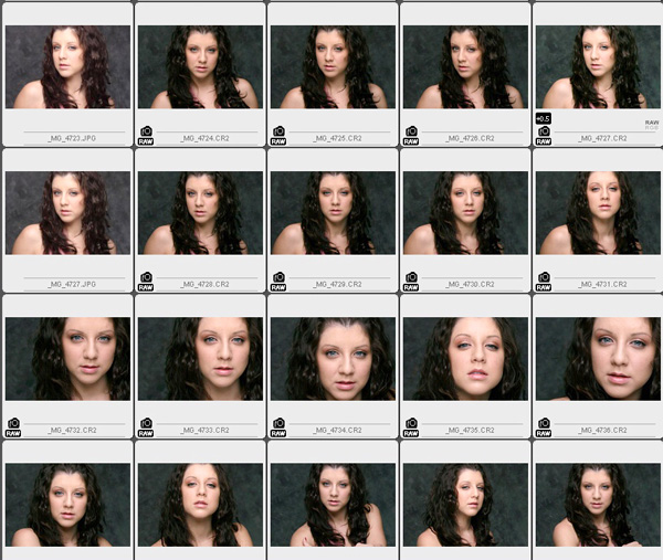 briana Archives ESSENTIALS For Photographers – Sample Contact Sheet