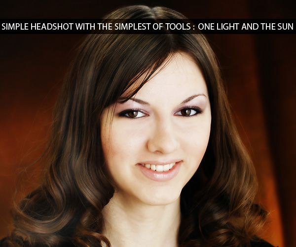 Using very simple tools to create a soft and gentle headshot
