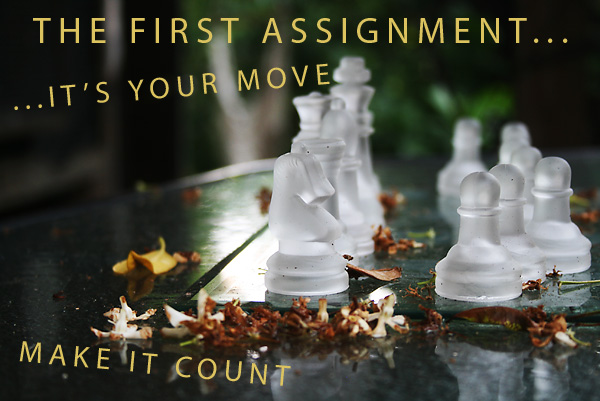 The First Assignment... Make it great by planning for success