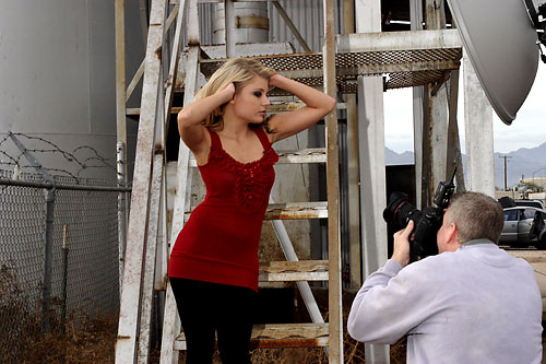 Christina is working with Jerry on the steps. Beauty dish just is giving perfect light.