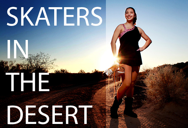 Tech Sheet: Skaters in the Desert: a portrait against the sun with two speedlights