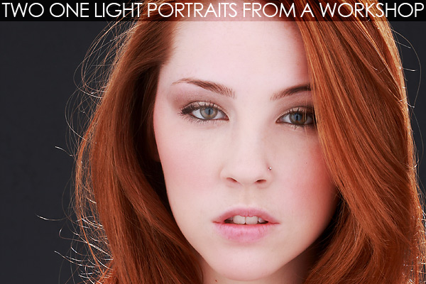 Two Portraits with one light on Lighting Essentials, a place for photographers