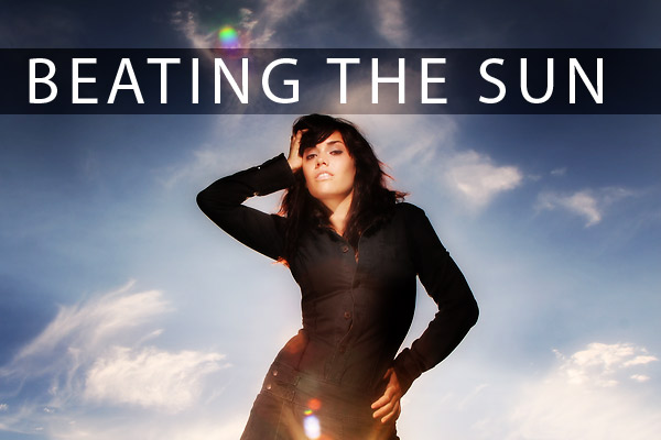 Using a small strobe to 'beat the sun' on Lighting Essentials