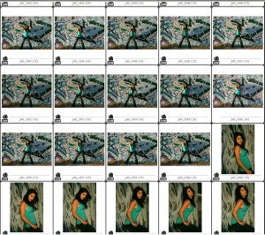 Contact Sheet of Wall on Location with Briana - Contact Sheet #1