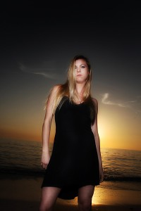 Erin on the Beach at Bradenton