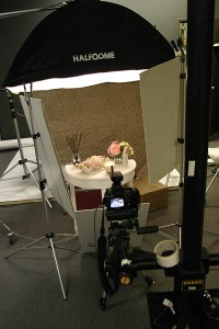 The set for a Catalog shoot for Lighting Essentials