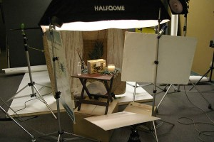 Shoot set for a catalog on Lighting Essentials