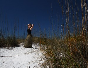 Jessica on the Beach on Bean Point, Anna Maria Island, Florida