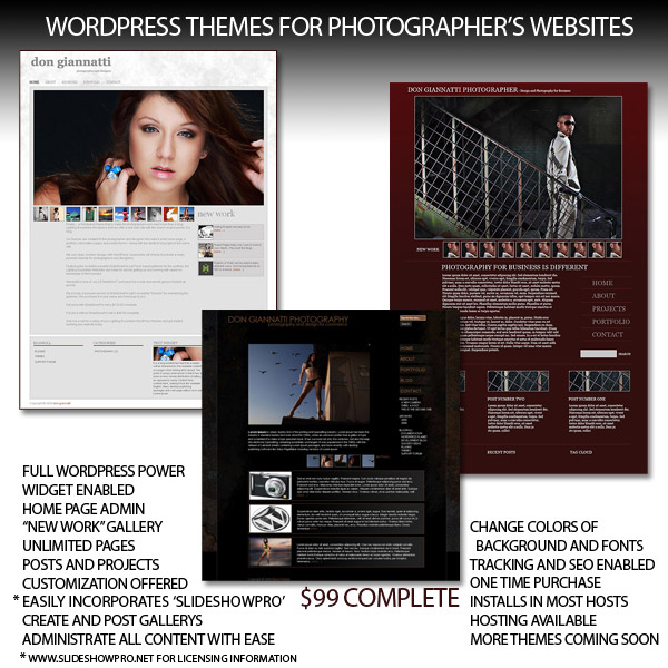 WordPress Themes for Photographers.