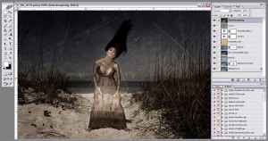 The Final Photoshop file for adding texture to a photograph