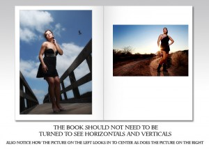 Page Design example 1. Vertical page book in spread form. Notice how the images are displayed so that the book does not have to be turned to show verticals and horizontals.