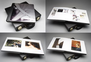 GraphiStudio makes some amazing books. Mine have 1/4 inch stainless steel covers and they weigh a ton.