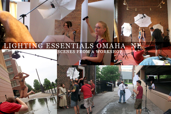 Scenes from a workshop, Lighting Essentials teaches photographers how to light.
