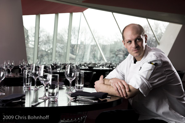 Asher Miller, Executive Chef at Wolfgang Puck's 20.21 Restaurant at the Walker Art Center, Minneapolis, Minnesota