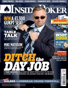 Inside Poker August 2008 Cover