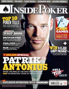Inside Poker August 2009 Cover