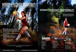 In these ads I was to act like a Volleyball Player in the middle of the woods. It was an ad that focused on not using up natural resources by using software instead.