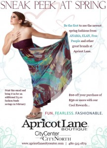 This ad for Apricot Lane called for me to be a bit more aloof.