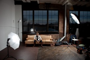 Setup shot for Ian Hay's photo above