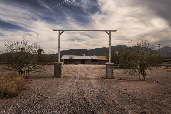 Entrance to an old ranch house, near Stanfield, Arizona