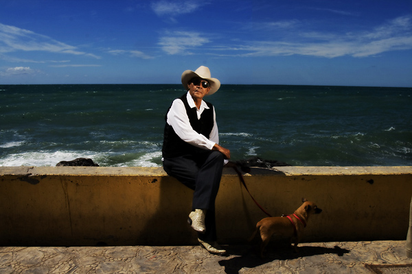 Gentleman with his dog, Mexico