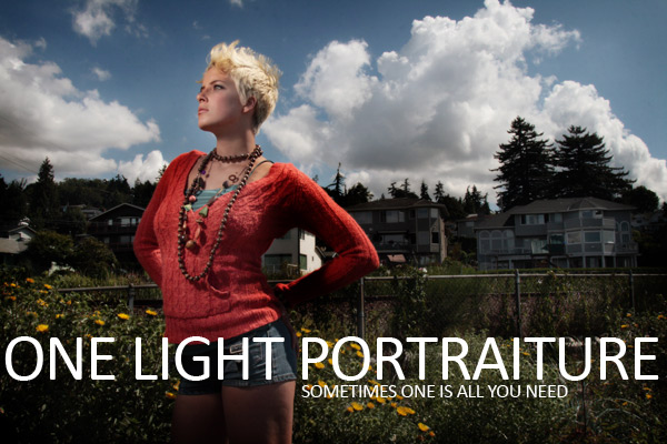 One Light Portrait in Seattle