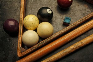 """Billiard Balls and Cue Sticks"" for Lighting Essentials II published by Amherst"