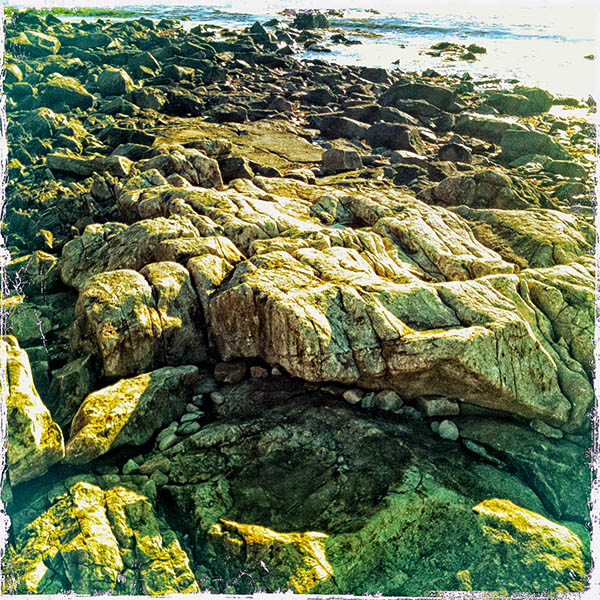 A rock beach near Camden, Maine