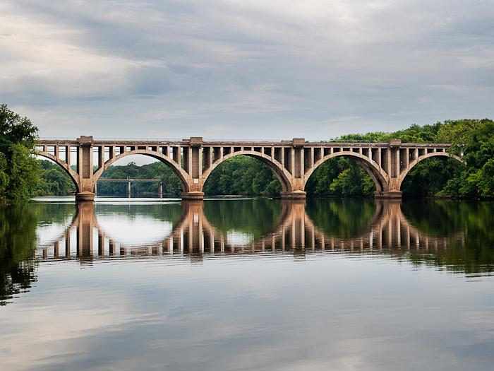 CSX_Train_Bridge_Downtown_Crossing_Rappahannock_River