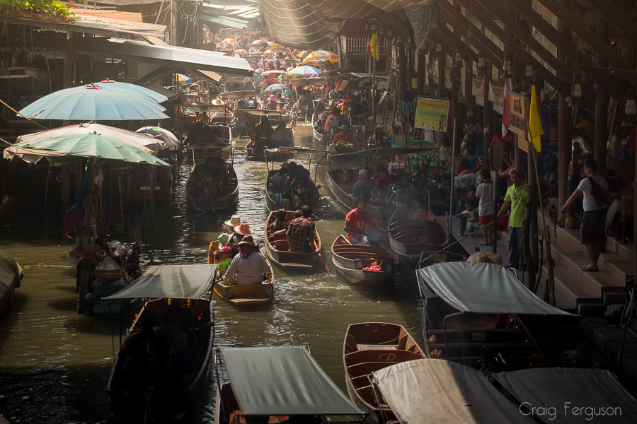 Thailand Floating Market.