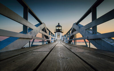 """Lighthouse: Maine; A Photoshop Twist"