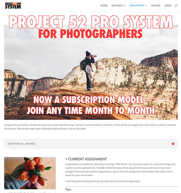 PROJECT 52 PRO IS NOW A SUBSCRIPTION COMMUNITY